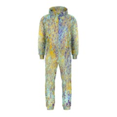 Abstract Earth Tones With Blue  Hooded Jumpsuit (Kids)