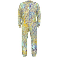 Abstract Earth Tones With Blue  OnePiece Jumpsuit (Men)
