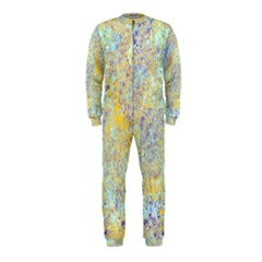 Abstract Earth Tones With Blue  Onepiece Jumpsuit (kids)