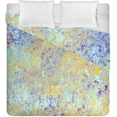 Abstract Earth Tones With Blue  Duvet Cover (king Size)