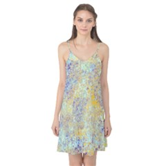 Abstract Earth Tones With Blue  Camis Nightgown