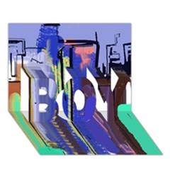 Abstract City Design BOY 3D Greeting Card (7x5)