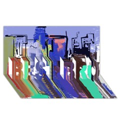 Abstract City Design BEST BRO 3D Greeting Card (8x4)