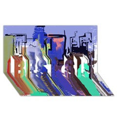 Abstract City Design BEST SIS 3D Greeting Card (8x4)