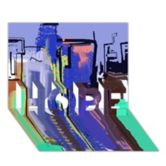 Abstract City Design HOPE 3D Greeting Card (7x5)