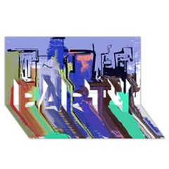 Abstract City Design PARTY 3D Greeting Card (8x4)