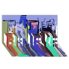Abstract City Design Believe 3d Greeting Card (8x4)