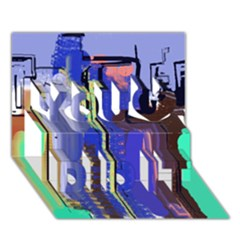 Abstract City Design You Did It 3D Greeting Card (7x5)