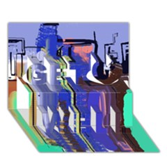 Abstract City Design Get Well 3d Greeting Card (7x5)