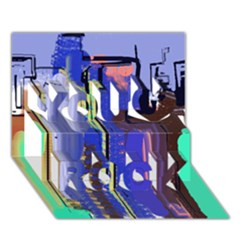 Abstract City Design You Rock 3D Greeting Card (7x5)