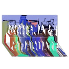 Abstract City Design Congrats Graduate 3d Greeting Card (8x4)