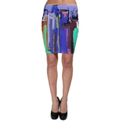 Abstract City Design Bodycon Skirts