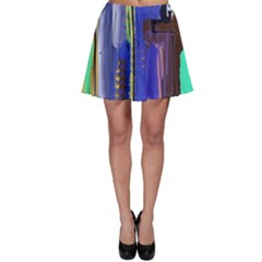 Abstract City Design Skater Skirts
