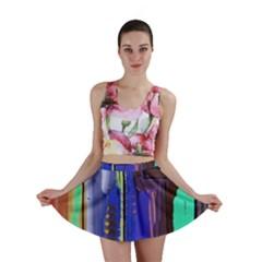 Abstract City Design Mini Skirts