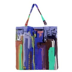 Abstract City Design Grocery Tote Bags