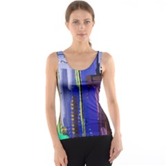 Abstract City Design Tank Tops