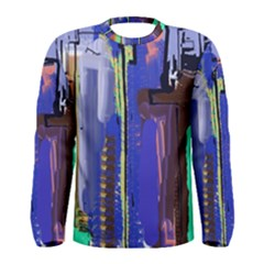 Abstract City Design Men s Long Sleeve T-shirts