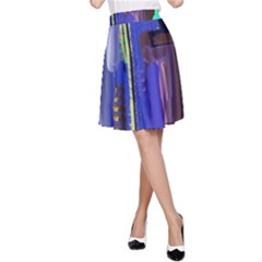 Abstract City Design A-Line Skirts