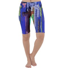 Abstract City Design Cropped Leggings