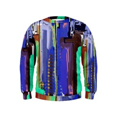Abstract City Design Boys  Sweatshirts