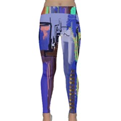Abstract City Design Yoga Leggings