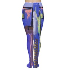 Abstract City Design Women s Tights