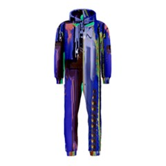 Abstract City Design Hooded Jumpsuit (kids)