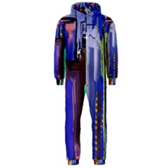 Abstract City Design Hooded Jumpsuit (men)