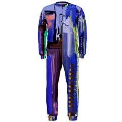 Abstract City Design OnePiece Jumpsuit (Men)