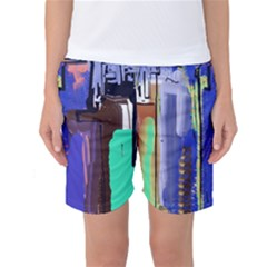 Abstract City Design Women s Basketball Shorts