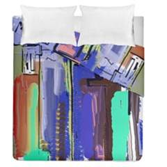 Abstract City Design Duvet Cover (full/queen Size)
