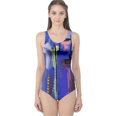 Abstract City Design Women s One Piece Swimsuits