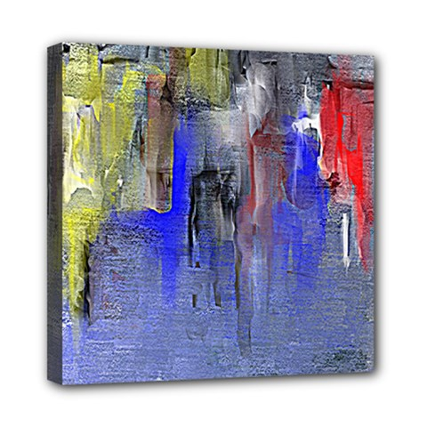 Hazy City Abstract Design Mini Canvas 8  X 8