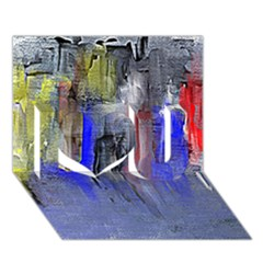 Hazy City Abstract Design I Love You 3D Greeting Card (7x5)