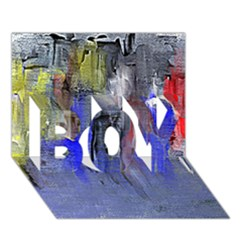 Hazy City Abstract Design BOY 3D Greeting Card (7x5)
