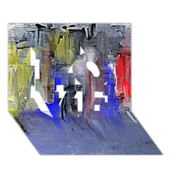 Hazy City Abstract Design LOVE 3D Greeting Card (7x5)