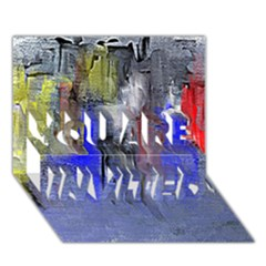 Hazy City Abstract Design YOU ARE INVITED 3D Greeting Card (7x5)