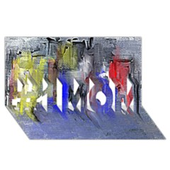 Hazy City Abstract Design #1 MOM 3D Greeting Cards (8x4)