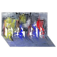 Hazy City Abstract Design BEST SIS 3D Greeting Card (8x4)