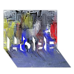 Hazy City Abstract Design Hope 3d Greeting Card (7x5)