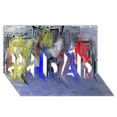 Hazy City Abstract Design #1 DAD 3D Greeting Card (8x4)