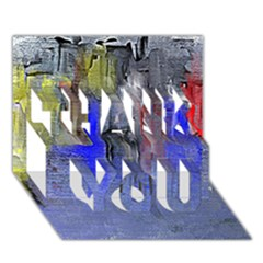Hazy City Abstract Design THANK YOU 3D Greeting Card (7x5)