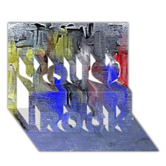 Hazy City Abstract Design You Rock 3D Greeting Card (7x5)