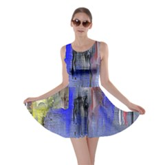 Hazy City Abstract Design Skater Dresses