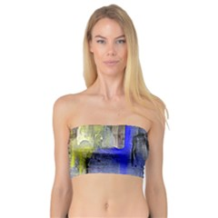 Hazy City Abstract Design Women s Bandeau Tops