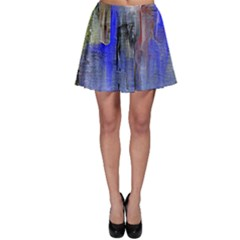 Hazy City Abstract Design Skater Skirts