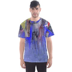 Hazy City Abstract Design Men s Sport Mesh Tees