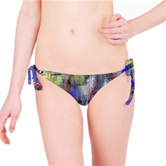 Hazy City Abstract Design Bikini Bottoms