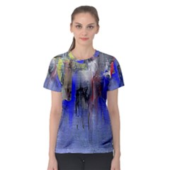 Hazy City Abstract Design Women s Sport Mesh Tees