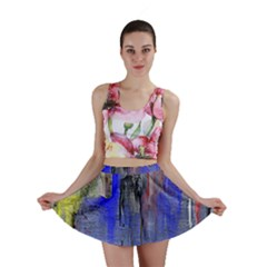 Hazy City Abstract Design Mini Skirts